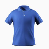 3d polo t shirt model