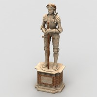medieval statue 3d max