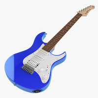 yamaha pacifica pac electric guitar 3d max