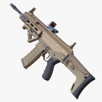 highpoly rifle acr 3d model