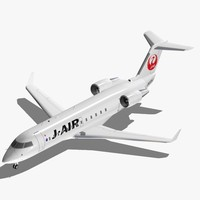 bombardier crj-200 japan airlines 3d model