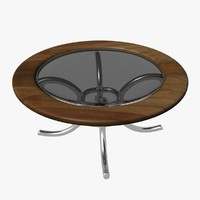 3d circular glass table