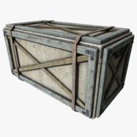 crate 3d obj