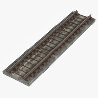subway rails railroad railway 3d fbx