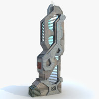 3ds max sci fi futuristic building