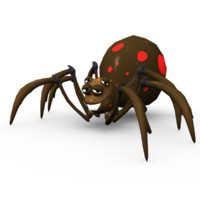 grimtoon spider 3d model