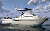 3ds max grady white sport fishing boat