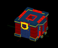 3d barracks buildings model