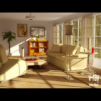 3d daylight living room model