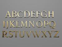 3d font latin