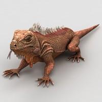 iguana lizard 3d model