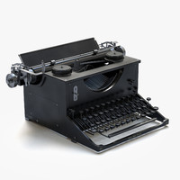 3d model antique typewriter