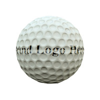 3d model golf ball diffuse normal