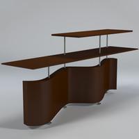 3d model open shelf uv