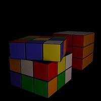 3d model color cube