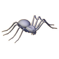 3ds uv-unwrapped spider base mesh