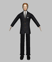 corporate male character 3d obj