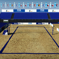 3d model volleyball court 2