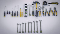 3d model tools industrial kits s