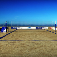 3d max volleyball court