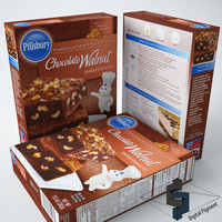chocolate walnut brownie mix 3d max