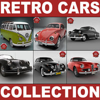 Retro Cars Collection V7