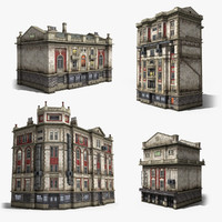 3ds max neoclassical houses