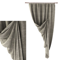 cornice curtain 3d 3ds