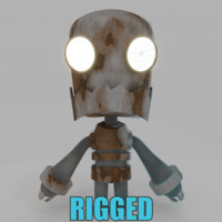 3d fun character rigged
