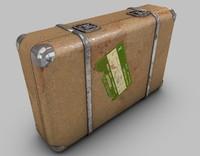 3ds max vintage suitcase