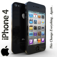 3d model apple iphone 4