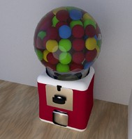 3d 3ds gum gumball machine