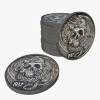 skull coins 3d model