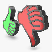 thumbs icons 1 3d model