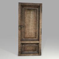 3d model highpoly old wooden door
