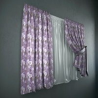 Curtains + tulle(blinds)