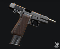 browning pistol 3d model