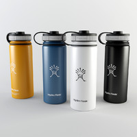 hydro flask insulated water bottle 3d model
