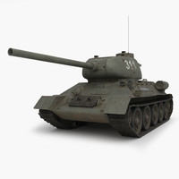 3ds max t 34 85 tank