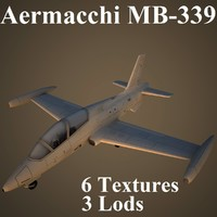 3d model aermacchi mb-339 air