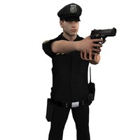 maya rigged police officer