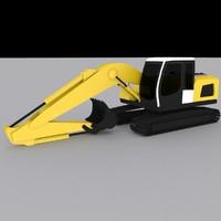 3d 3ds crawler excavator r916