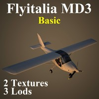 flyitalia md3 basic 3 3d max