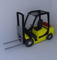 3d fork lift truck model
