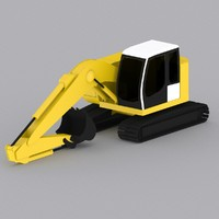 3d model crawler excavator r924 compact