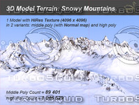 terrain terra mountain 3d model