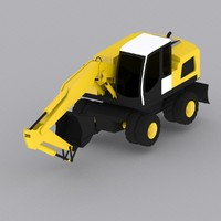 wheel excavator a924 3d model