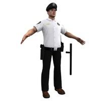 police officer 3d model