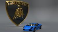 3dsmax lamborghini emblem