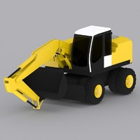 liebherr wheel excavator a904 3d model